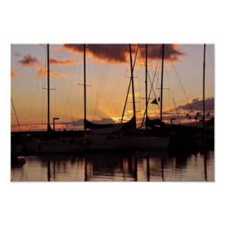 Waikiki Small Boat Harbor Print