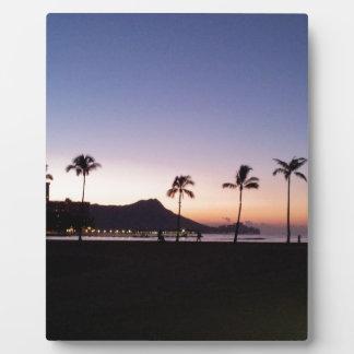 Waikiki Sunrise Photo Plaque