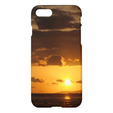 Beach Themed Waikiki Sunset iPhone 7 Case