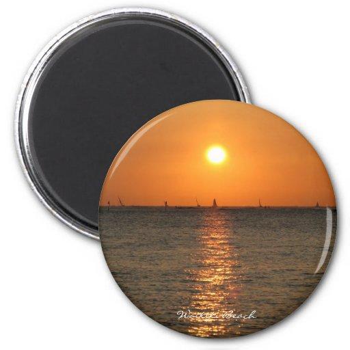 Waikiki Sunset Magnet