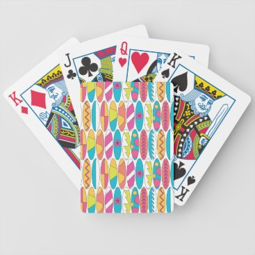 Beach Themed Waikiki Surfboards Bicycle Playing Cards