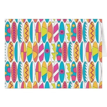 Beach Themed Waikiki Surfboards Card