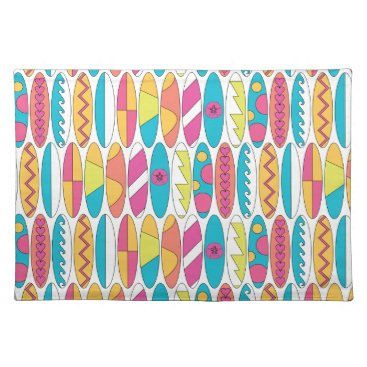 Beach Themed Waikiki Surfboards Cloth Placemat
