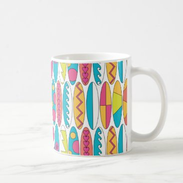 Beach Themed Waikiki Surfboards Coffee Mug