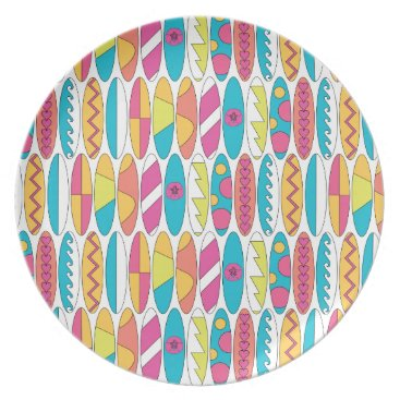 Beach Themed Waikiki Surfboards Dinner Plate