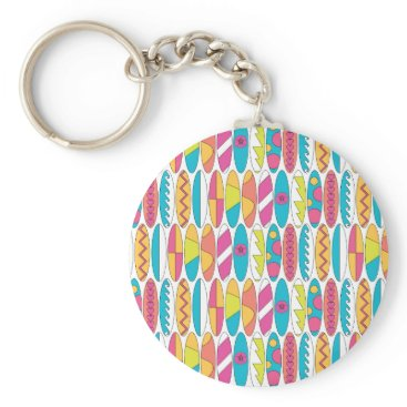 Beach Themed Waikiki Surfboards Keychain