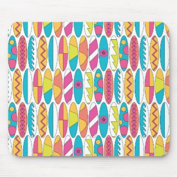 Beach Themed Waikiki Surfboards Mouse Pad