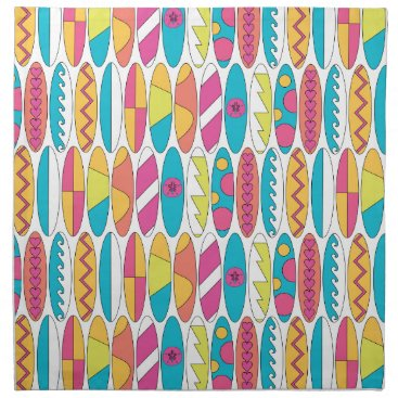 Beach Themed Waikiki Surfboards Napkin