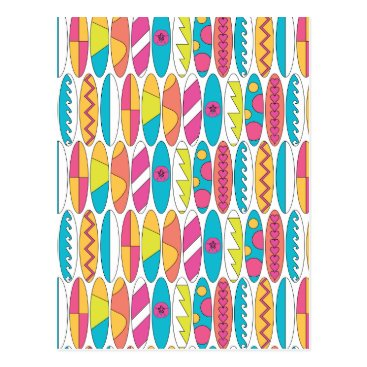 Beach Themed Waikiki Surfboards Postcard