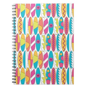 Beach Themed Waikiki Surfboards Spiral Notebook