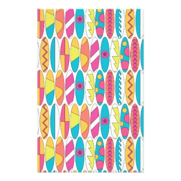 Beach Themed Waikiki Surfboards Stationery