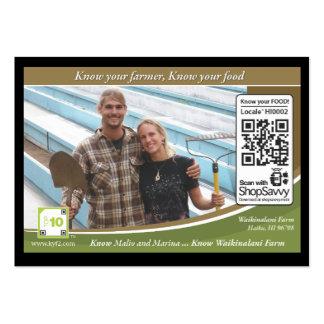 Waikinalani Farm Traceable Shelftalker Business Card Template