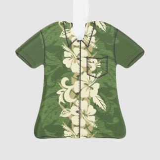 Waikoloa Hawaiian Hibiscus Floral Aloha Shirt Ornament