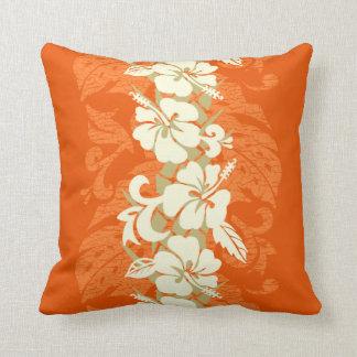 Waikoloa Hawaiian Hibiscus Floral Throw Pillow