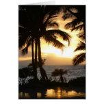 Wailea Sunset Greeting Card