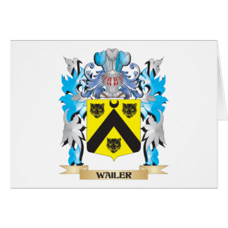 Wailer Coat of Arms - Family Crest Stationery Note Card