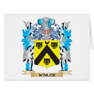 Wailer Coat of Arms - Family Crest Large Greeting Card