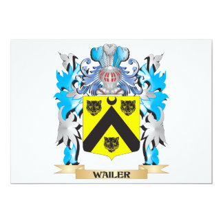 Wailer Coat of Arms - Family Crest 5x7 Paper Invitation Card