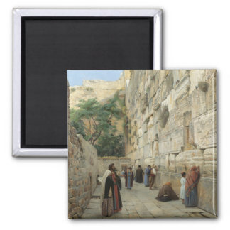 Wailing Wall by Gustav Bauernfeind 2 Inch Square Magnet