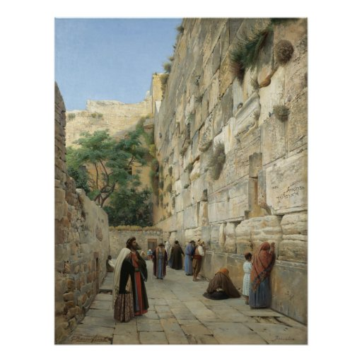 Wailing Wall by Gustav Bauernfeind Canvas Print 23