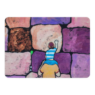 Wailing Wall with Parent and Child Card