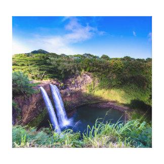 Wailua baja impresión envuelta Kauai de la lona Impresiones De Lienzo