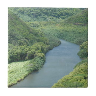 Wailua River - Kauai, Hawaii Ceramic Tile