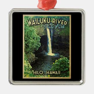 Wailuku State Park Hawaii Metal Ornament
