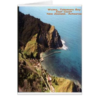 Waima, bahía de Tokomaru, Eastcoast, Nueva Zelanda Tarjeta De Felicitación