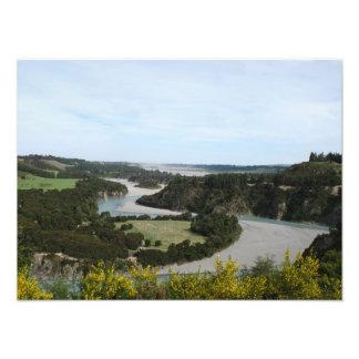 Waimakariri river, Southern Alps, New Zealand Photo Print