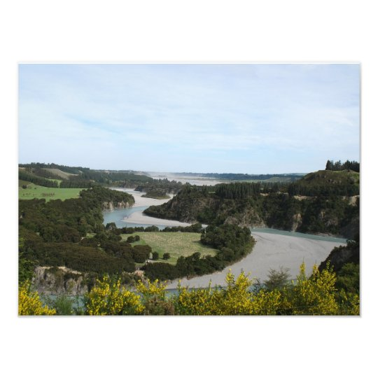 Waimakariri river, Southern Alps, New Zealand Photo Print