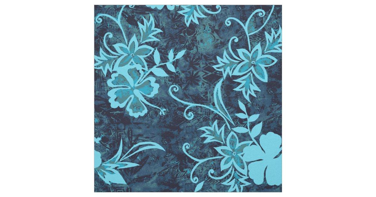 Waimanalo Hawaiian Hibiscus Batik Fabric Zazzle Com