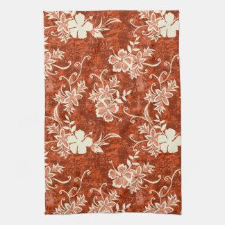 Waimanalo Hawaiian Hibiscus Kitchen Towel