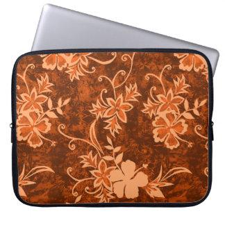 Waimanalo Hawaiian Hibiscus Neoprene Wetsuit Laptop Sleeve