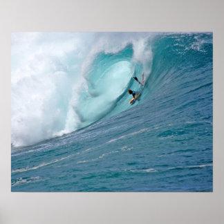 Waimea Bay Bodyboard Poster