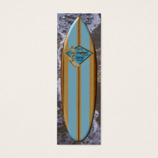 Waimea Bay Surfboard Bookmark Mini Business Card