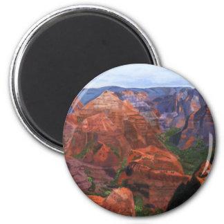 Waimea Canyon Hawaii 2 Inch Round Magnet