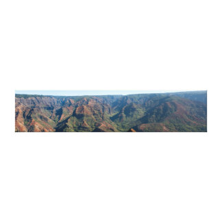 Waimea Canyon Hawaii Panoramic Photography Canvas Print