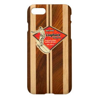 Waimea Surfboard Hawaiian Faux Koa Wood iPhone 8/7 Case