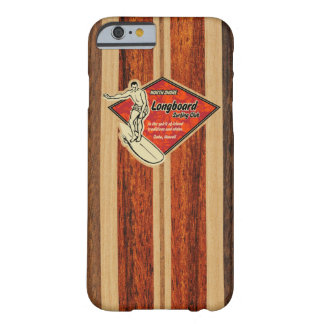 Waimea Surfboard Hawaiian Faux Wood Barely There iPhone 6 Case