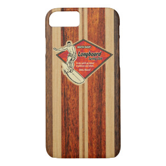 Waimea Surfboard Hawaiian Faux Wood iPhone 7 Case