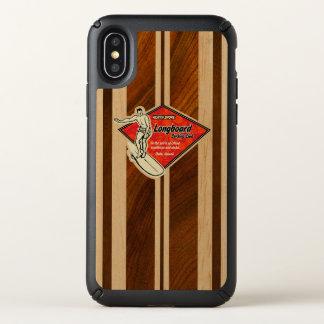 Waimea Surfboard Hawaiian Faux Wood Koa Speck iPhone X Case
