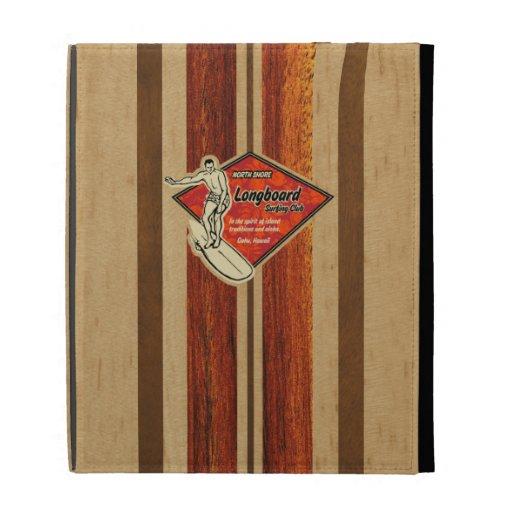 Waimea Surfboard Hawaiian iPad Folio iPad Folio Covers