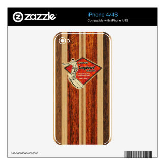 Waimea Surfboard Hawaiian iPhone 4/4S Skin Decals For The iPhone 4