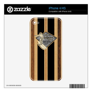 Waimea Surfboard Hawaiian iPhone 4/4S Skin iPhone 4 Decals