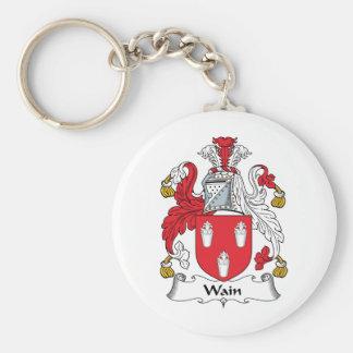 Wain Family Crest Basic Round Button Keychain