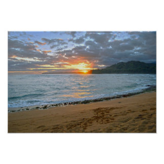 Wainiha Bay, Kauai, Hawaii, Sunrise Poster