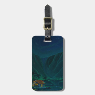 Wainiha Valley Home on a Starry Night Bag Tag