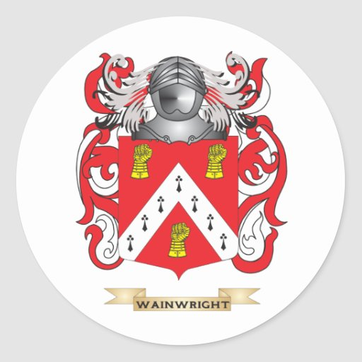 Wainwright Family Crest (Coat of Arms) Classic Round Sticker