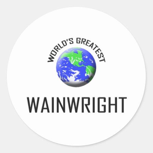 Wainwright más grande del mundo pegatinas